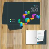 Folder template design — Stock Vector