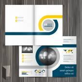 Conception de modèle de brochure — Vecteur