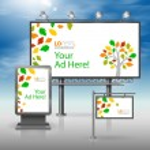 Corporate identity. Billboard, sign, light box — Stock Vector #77849774