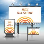 Corporate identity. Billboard, sign, light box — Stock Vector