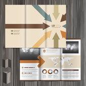 Modelo de design de brochura — Vetor de Stock