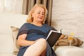 Senior woman, at home — Stock Photo