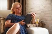 Senior woman, at home — Stock Photo