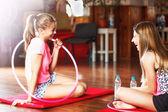 Sport teenage girls — Stock Photo