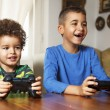 Two Friends Playing Video Game — Stock Photo #66413359