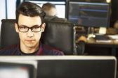 Business young man working — Stock Photo