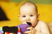 Cute baby, 6 months old — Stock Photo