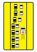 Traffic sign advise cars to give right way to ambulance. — Stock Vector