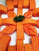Papaya vers fruit regelen in bloem vorm — Stockfoto