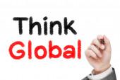 Myslete globálně — Stock fotografie