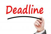 Man writing Deadline Concept — Stock Photo