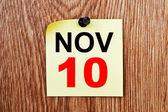 November 10 Calendar — Stock Photo