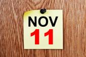 November 11 Calendar — Stock Photo