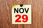 November 29 Calendar — Stock Photo