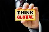 Think Global Concept — Foto de Stock