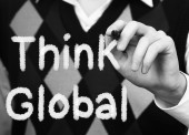 Think Global Concept — Foto Stock