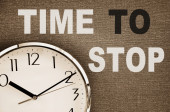 Time to Stop — Stock Photo