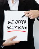 Wir bieten lösungen! — Stockfoto