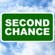 Second Chance Road Sign — Stock fotografie #63904427