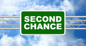 Letrero de segunda oportunidad — Foto de Stock