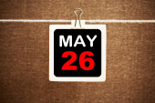 May 26 calendar — Stock Photo