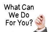 O que faremos para você — Fotografia Stock
