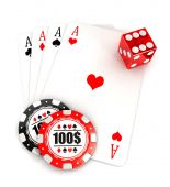 3d casino accessories — Foto Stock