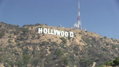 Hollywood-Schild — Stockvideo