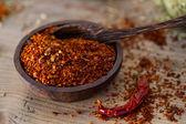 Chili pepper flakes — Stock Photo