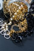 Fake jewellery and chains — Foto de Stock