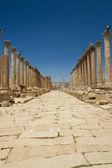 Main road of Jerash — Foto de Stock