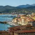 The harbour of Portoferraio, Elba — Stock Photo #57756503