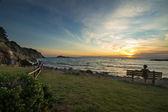 Sunset at Punta Ala, Tuscany — Stock Photo