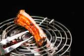 Spare ribs on the grill — Stock Photo