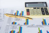 Financial report and statistic chart business concept — Stock Photo