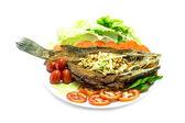 Fried fish close up — Stock Photo