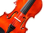 Violin on white background — Stock Photo