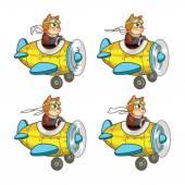 Rat Pilot Game Sprite — Vector de stock