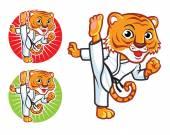 Taekwondo Tiger — Wektor stockowy