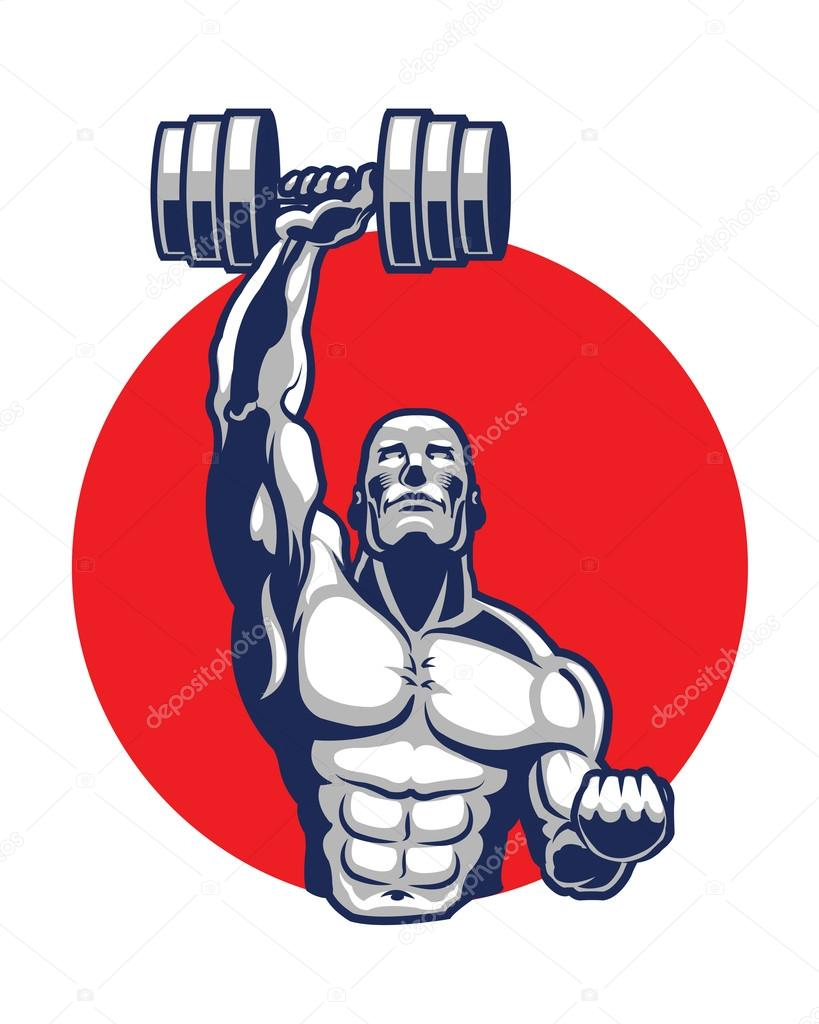 Muscle vector icon