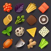 Food icon set — Stock Vector