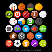 Round icons set sport — Stock Vector