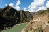 Ganga River at the begining of Himalaya Mountains near to Rishik — Stock Photo