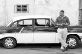 HAVANA - FEBRUARY 17: Unkown man staying on his classic car on F — Stock Photo