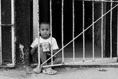 HAVANA - FEBRUARY 17: Unkown child playing on street of Havana o — Stock Photo
