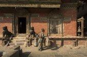 KATHMANDU, NEPAL-NOVEMBER 20: Street at the Durbar Square,Lalitp — Zdjęcie stockowe