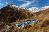 Annapurna South peack in the Nepal Himalaya - view from Annapurn — Stock Photo
