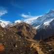 View of Machhapuchchhre mountain - Fish Tail in English is a mou — Stock Photo #71155011