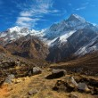 View of Machhapuchchhre mountain - Fish Tail in English is a mou — Stock Photo #71155097