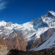 Machhapuchchhre mountain - Fish Tail in English is a mountain in — Stock Photo #71155407